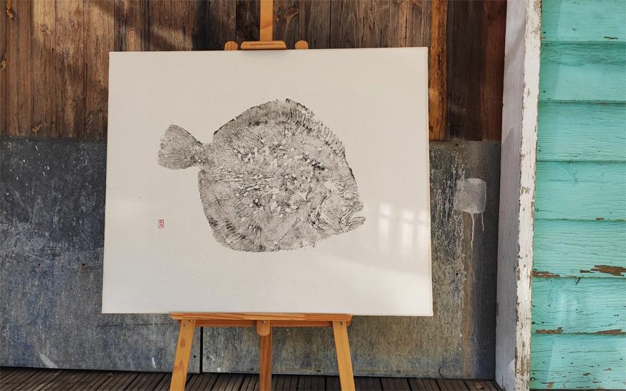 Gyotaku Rodaballo